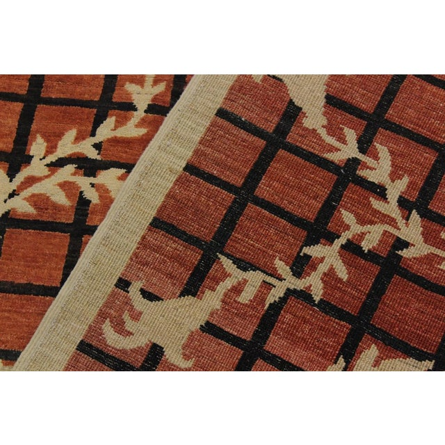Modern Contemporary Ziegler Angle Drk. Orange Wool Rug - 5′11″ × 8′8″ For Sale - Image 3 of 9
