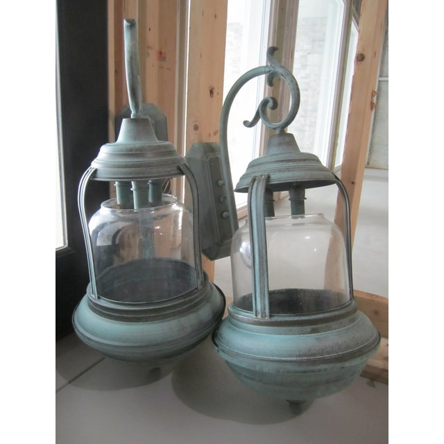 Handcrafted French Country Wall Lantern - A Pair - Image 9 of 10
