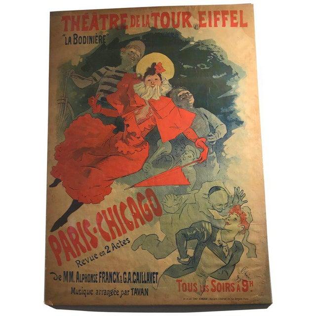 'La Bodinière' Théatre De La Tour Eiffel Original Art Nouveau Poster For Sale - Image 11 of 11