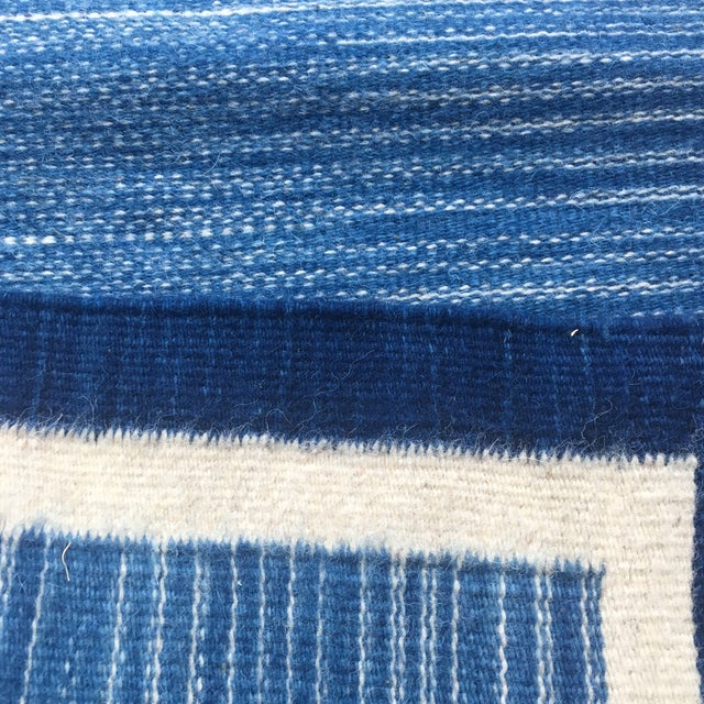 Hand Dyed Mexican Indigo Blue Wool Rug - 1′11″ × 2′9″ - Image 4 of 7