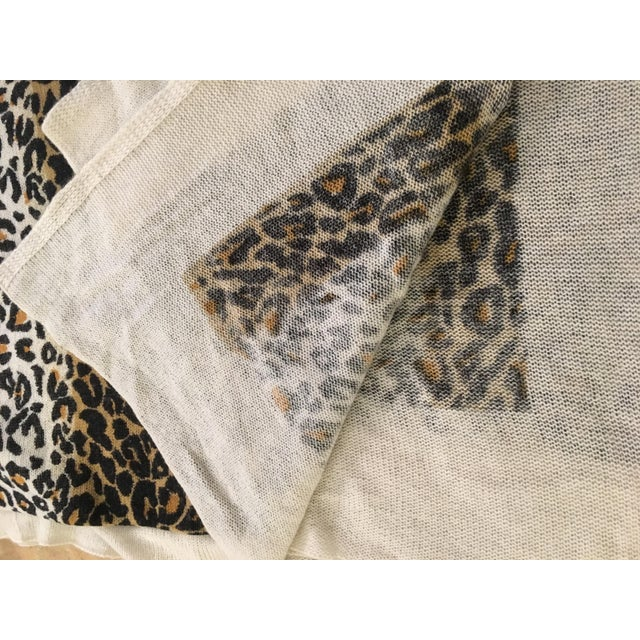 Large Thin Leopard Cashmere Throw - Image 5 of 10