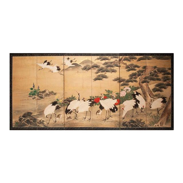 Edo Era Monumental Japanese Six-Panel Byobu Screen For Sale
