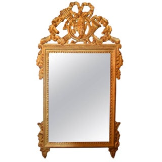 Louis XVI Style Highly Decorative Gilded Mirror For Sale