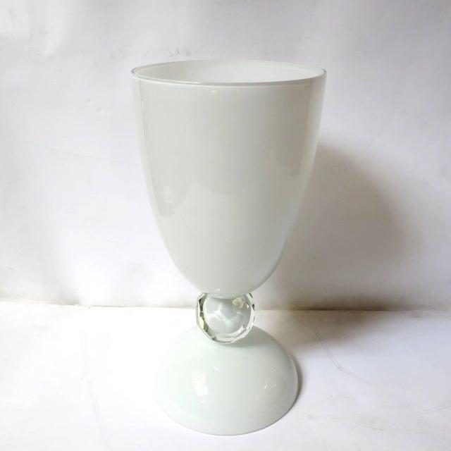 Italian White Murano Glass Urn by Fabio Ltd For Sale - Image 3 of 6