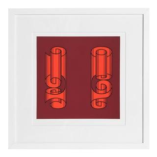 Josef Albers - Portfolio 1, Folder 18, Image 2 Framed Silkscreen For Sale