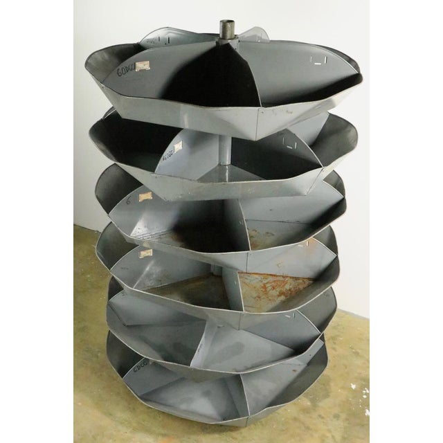 Metal Industrial Rotating Storage Bin by Frick and Gallagher For Sale - Image 7 of 10