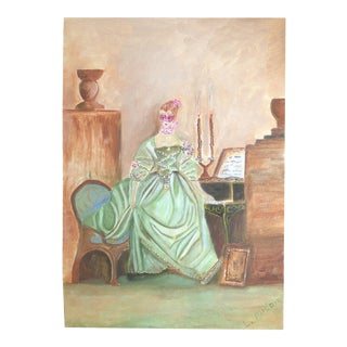 "Lisa Burris Acrylic Painting in Likes of ""Madame De Pompadour"""