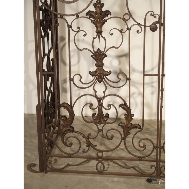 Circa 1800 French Wrought Iron 4 Section Gate - A Pair For Sale - Image 9 of 12