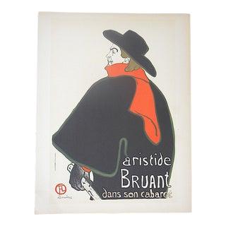 Vintage Toulouse Lautrec Lithograph-Printed by Mourlot, Paris-1951 For Sale