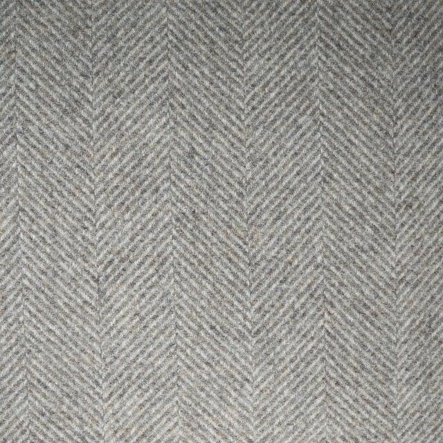 Italian FirmaMenta Eco-Friendly Neutral Herringbone Recycled Wool Pillow For Sale In San Francisco - Image 6 of 7