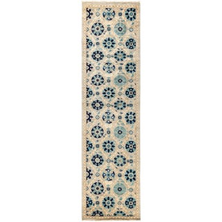 "Suzani Hand Knotted Runner - 2'7"" X 9'10"""