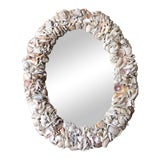 Image of Vintage Shell Encrusted Mirror For Sale