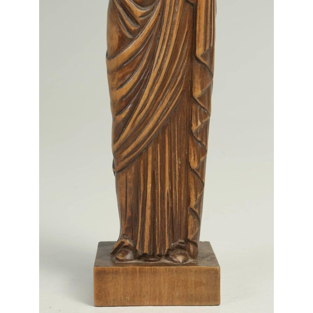 Wood Carving by the French Sculptor R. Vergnes, Circa 1949 For Sale - Image 4 of 9