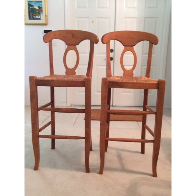 Modern Pottery Barn Barstool Chairs- A Pair For Sale In Miami - Image 6 of 6