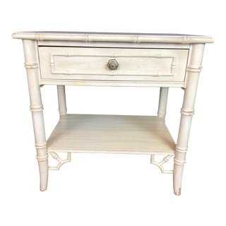Thomasville Faux Bamboo Nightstand For Sale