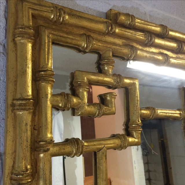 Gold Bamboo-Style Mirror - Image 8 of 8