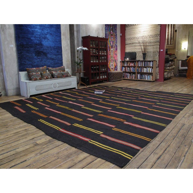 A very heavy and sturdy tribal flat-weave from Southeastern Turkey in large format actually, a pair that we joined. Woven...