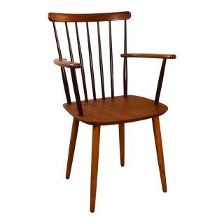 Scandinavian Modern Spindle Back Arm Chair by Billund Stolefabrik, 1960s For Sale
