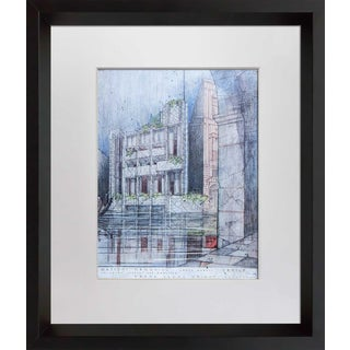 """Frank Lloyd Wright Lithograph """"Masieri Memorial, Italy"""" Limited Ed. W/Frame For Sale"""