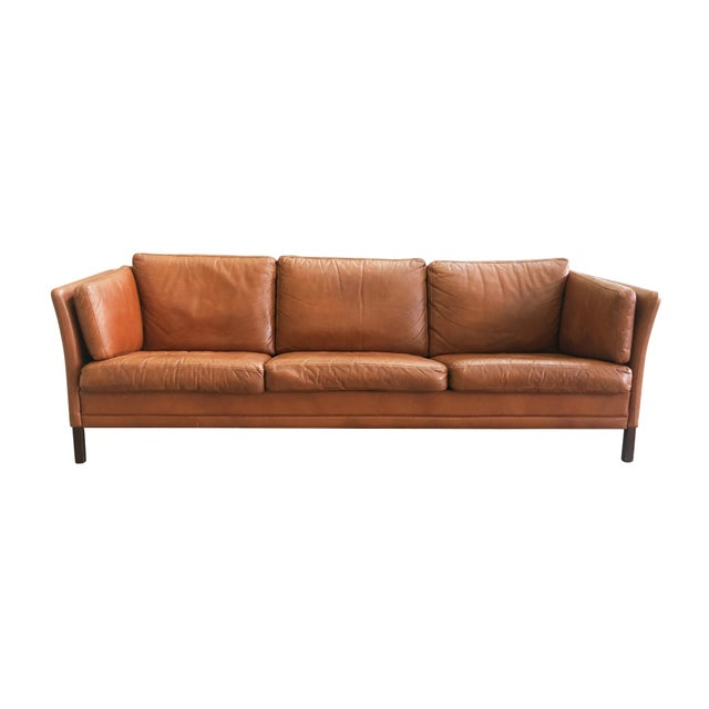 Danish Mid-Century Modern Leather Sofa by Mogens Hansen For Sale - Image 11 of 11