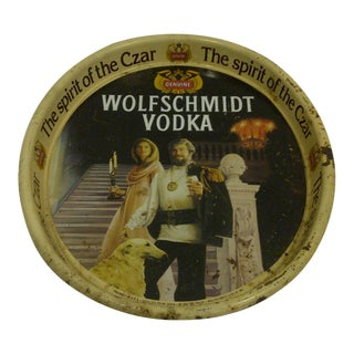 "Vintage ""Wolfschmidt Vodka"" Serving Tray"