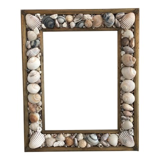 Tony Duquette Style Handmade Seashell Picture Frame For Sale