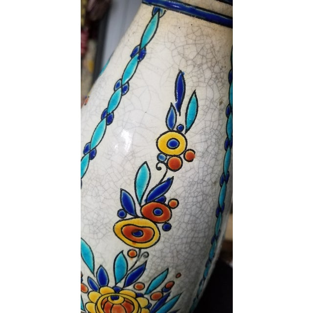 Ceramic 1930s Charles Catteau Boch Freres Grès Keramis Vase For Sale - Image 7 of 9