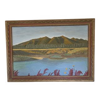"""1990s """"Silent Sentinals Arizona"""" Landscape Acrylic Painting by Max Holland, Framed For Sale"""