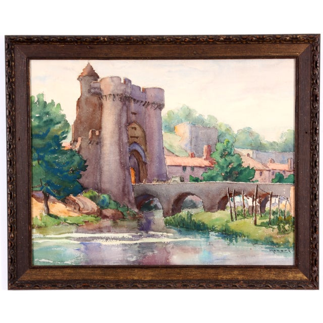 Monory Town Gate in France Painting - Image 4 of 7