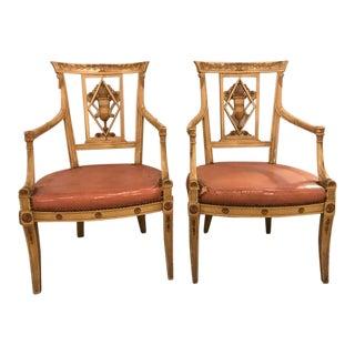 Maison Jansen Arm Chairs - a Pair For Sale