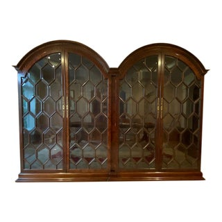 Francesco Molon Mahogany Burl Curio Cabinet For Sale