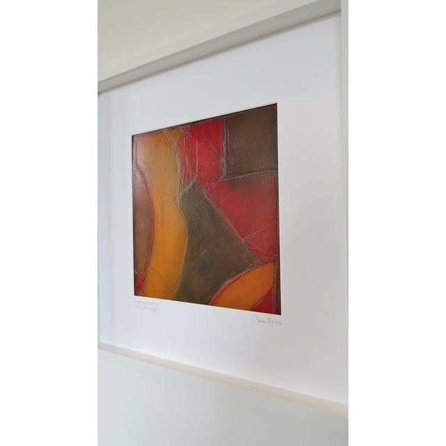 Atmospheres, Orange/Red Framed Painting - Image 4 of 9