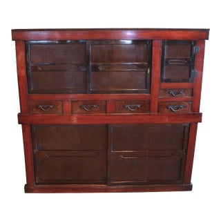 Japanese Mizuya Kitchen Tansu For Sale