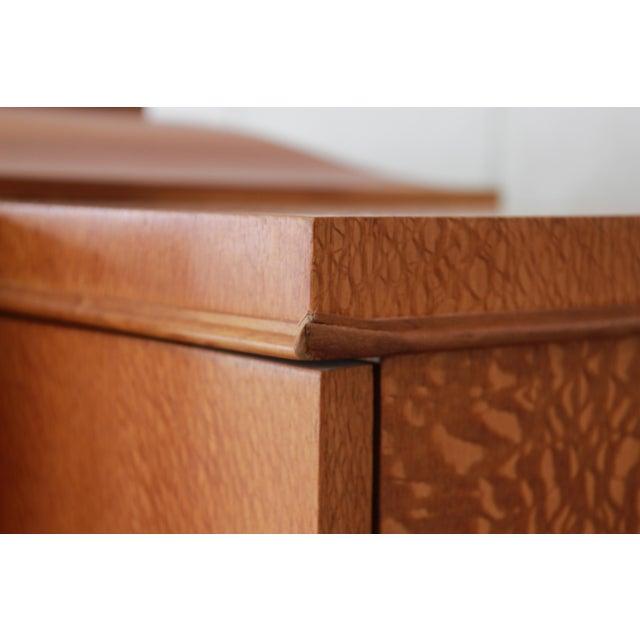 Baker Furniture Art Deco Style Burlwood Armoire - Image 11 of 11