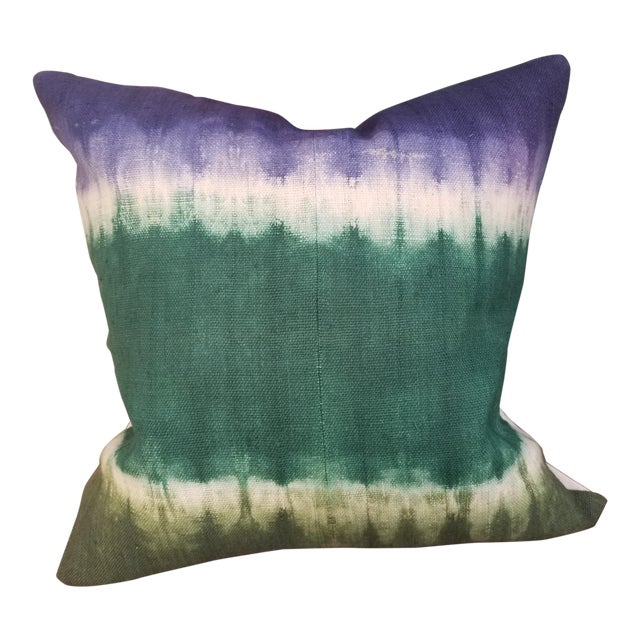 Hand Woven Hill Tribe Tie Dye Pillow For Sale