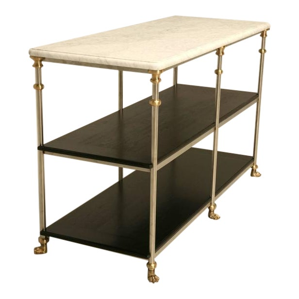 French Industrial Inspired Kitchen Island For Sale