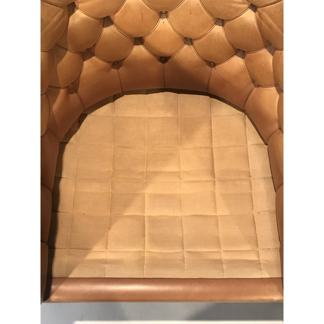 1960s Vintage Cassina Figli DI Amedeo Tufted Leather Club Chair For Sale - Image 9 of 12