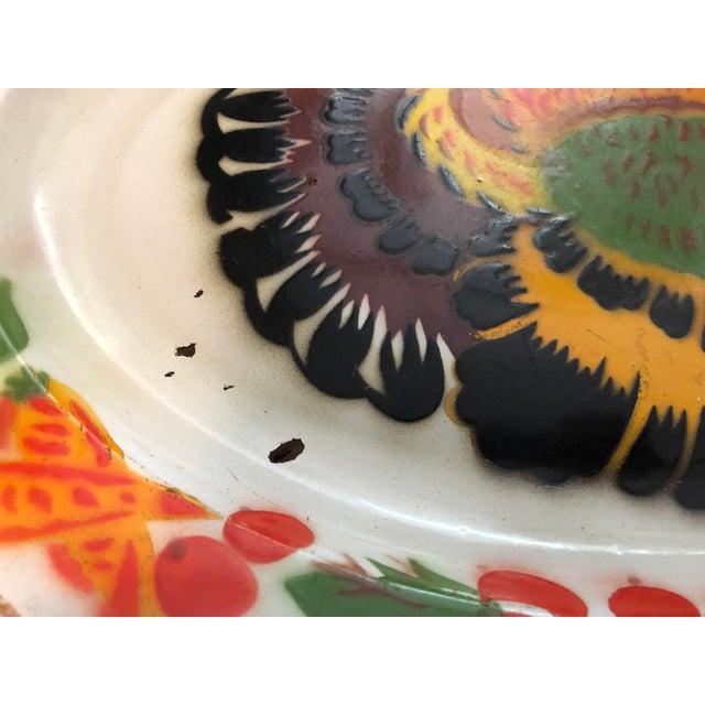 Enameled Midcentury Turkey Platters, Pair For Sale - Image 4 of 9