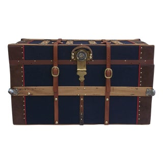1900s Traditional Packing Trunk For Sale