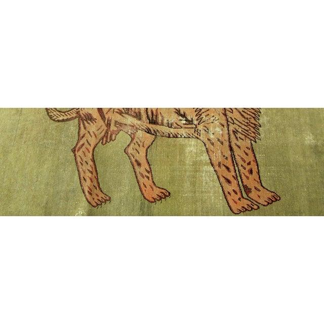 Primitive Early-19th Century Antique Uzbek Samarkand With Lion Design 8'5'' X 5'10'' For Sale - Image 3 of 6