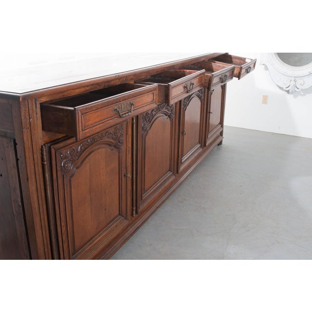 Metal French 19th Century Oak Enfilade For Sale - Image 7 of 10