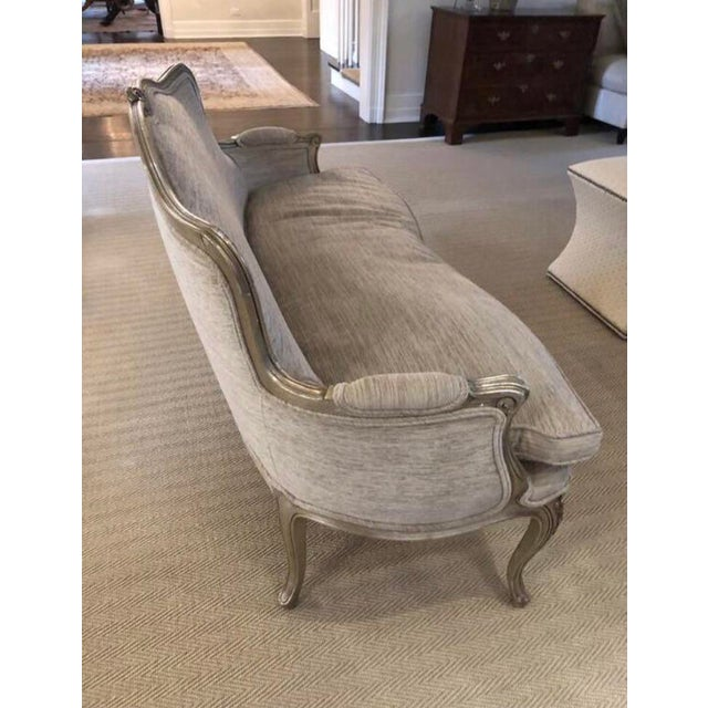 Silver Leaf French Settee For Sale - Image 10 of 11