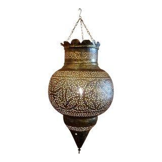 Moroccan Copper Lantern For Sale