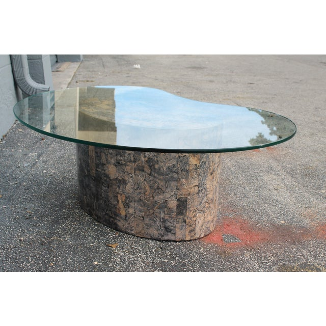 Mid-Century Kidney Shaped Tessellated Stone Coffee Table - Image 10 of 10