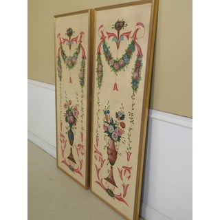 1990s Vintage Chelsea House Painted Oil on Canvas Decorative Framed Panels- A Pair Preview
