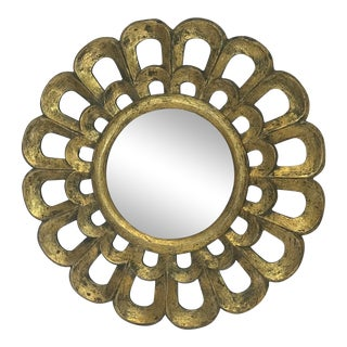 Spanish Golden Painted Mirror For Sale