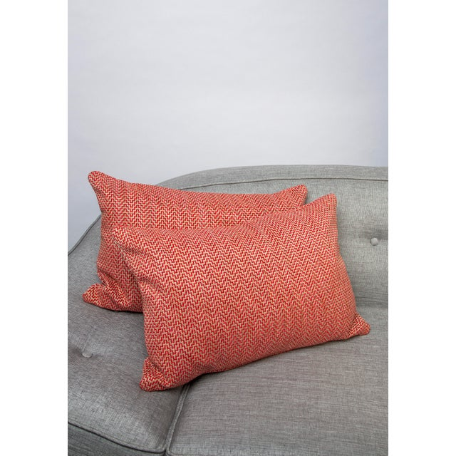 """Textile 22"""" X 14"""" Schumacher Orwell Down Pillows For Sale - Image 7 of 8"""