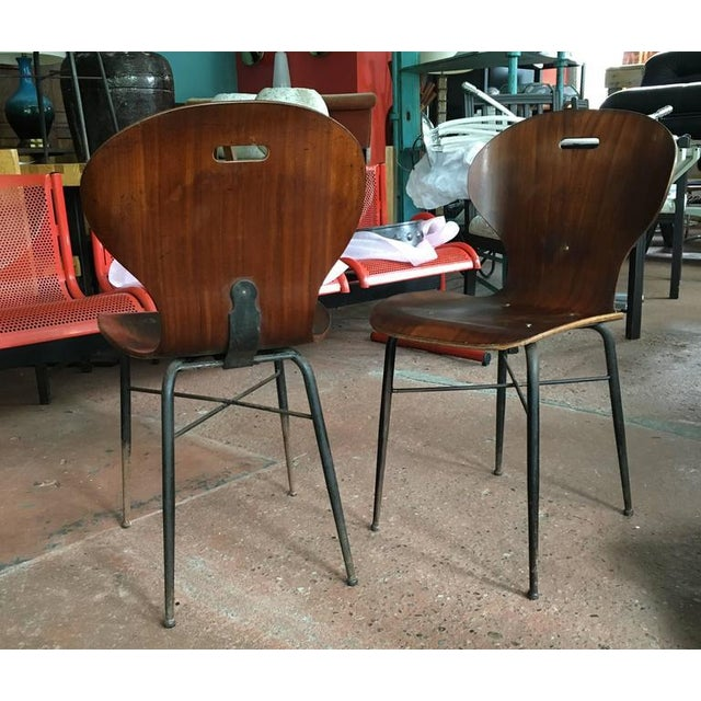 1950s Rare Carlo Ratti Molded Plywood Dining Chairs, 12 Available For Sale - Image 5 of 6