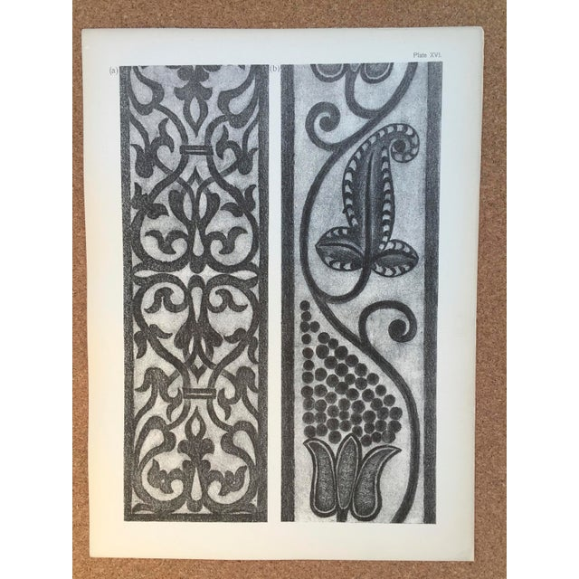 1906 English Photo-Tints, Charcoal Rubbings of Woodcarving - a Pair - Image 4 of 11