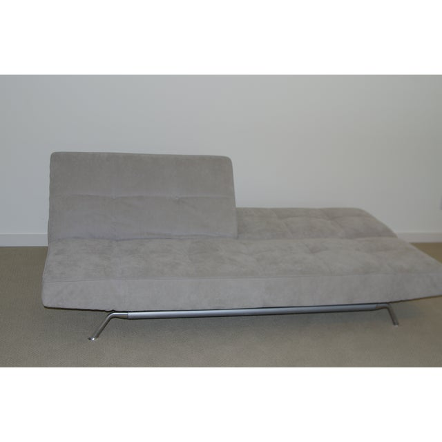 Contemporary Ligne Roset Smala Sofa in Custom Light Gray Suede For Sale - Image 3 of 10